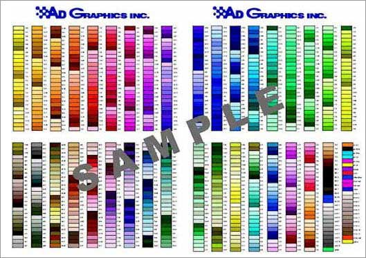 Color Chart Pompano Beach Fl | 4-Color Process Printing