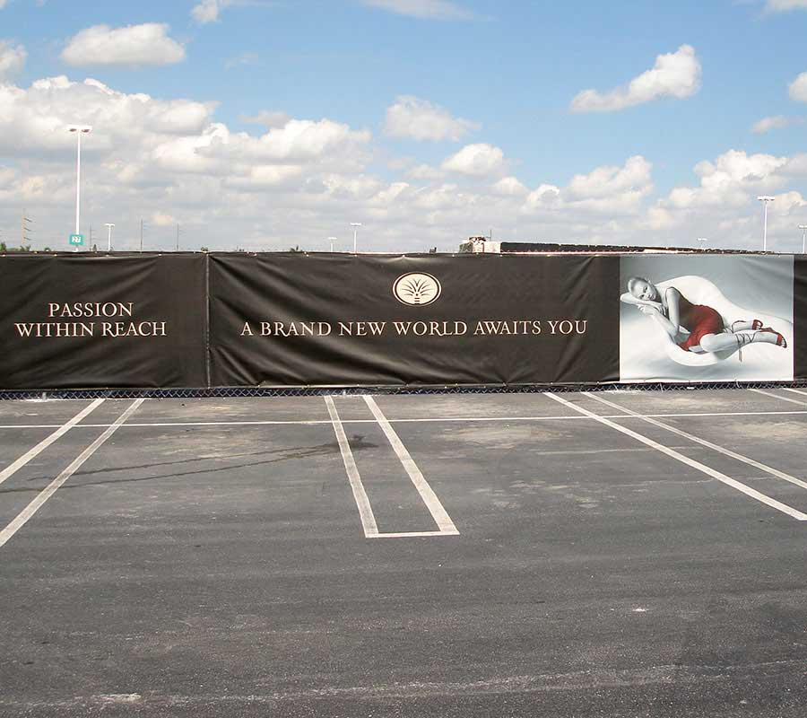 Mesh Construction Banners