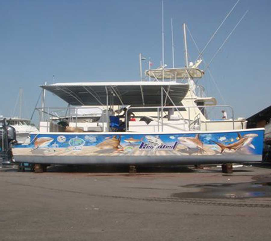 Boat Graphics Pompano Beach FL Boat Wraps Boat Decals - Boat decal graphics