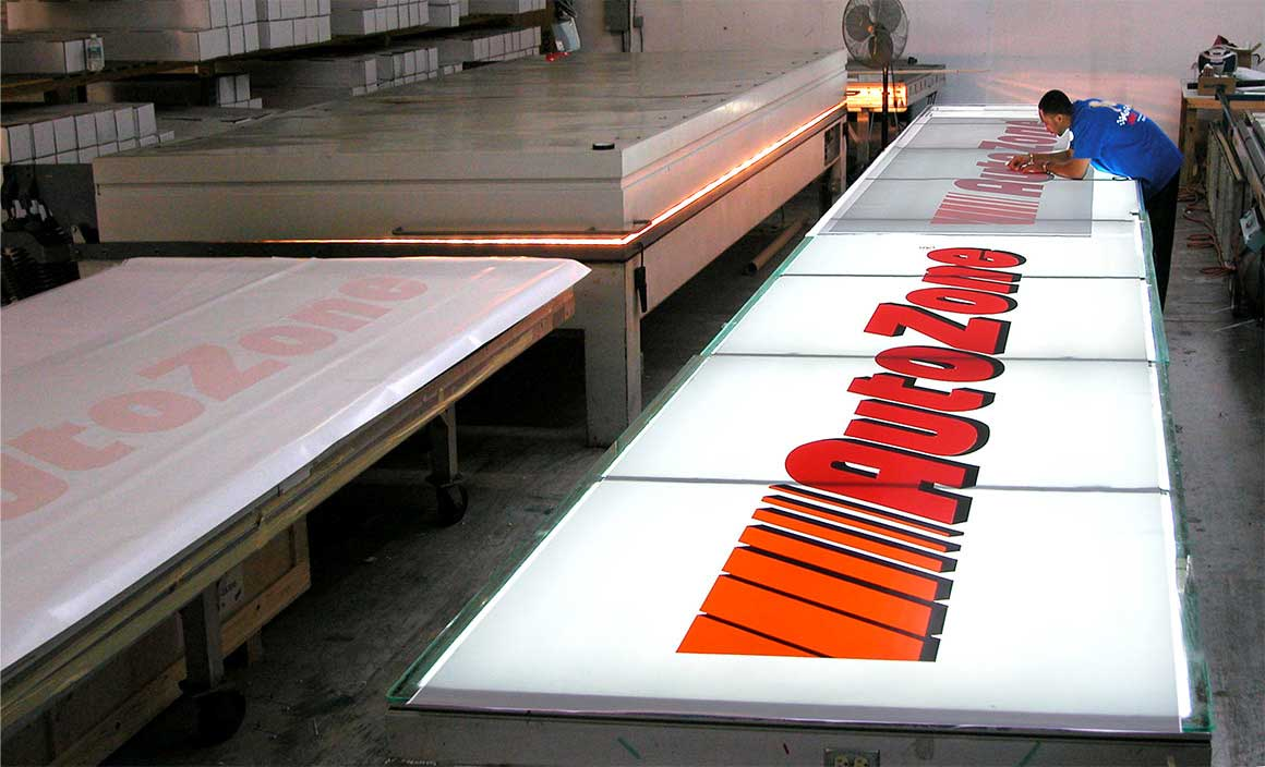 Back Lit Sign Fabrication