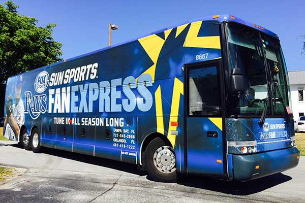 Temporary Bus Wraps
