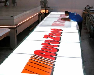 Autozone sign production