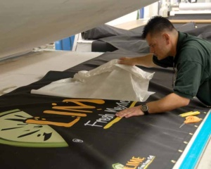 Heat transfer awning decals