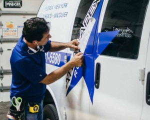 Van decal installation