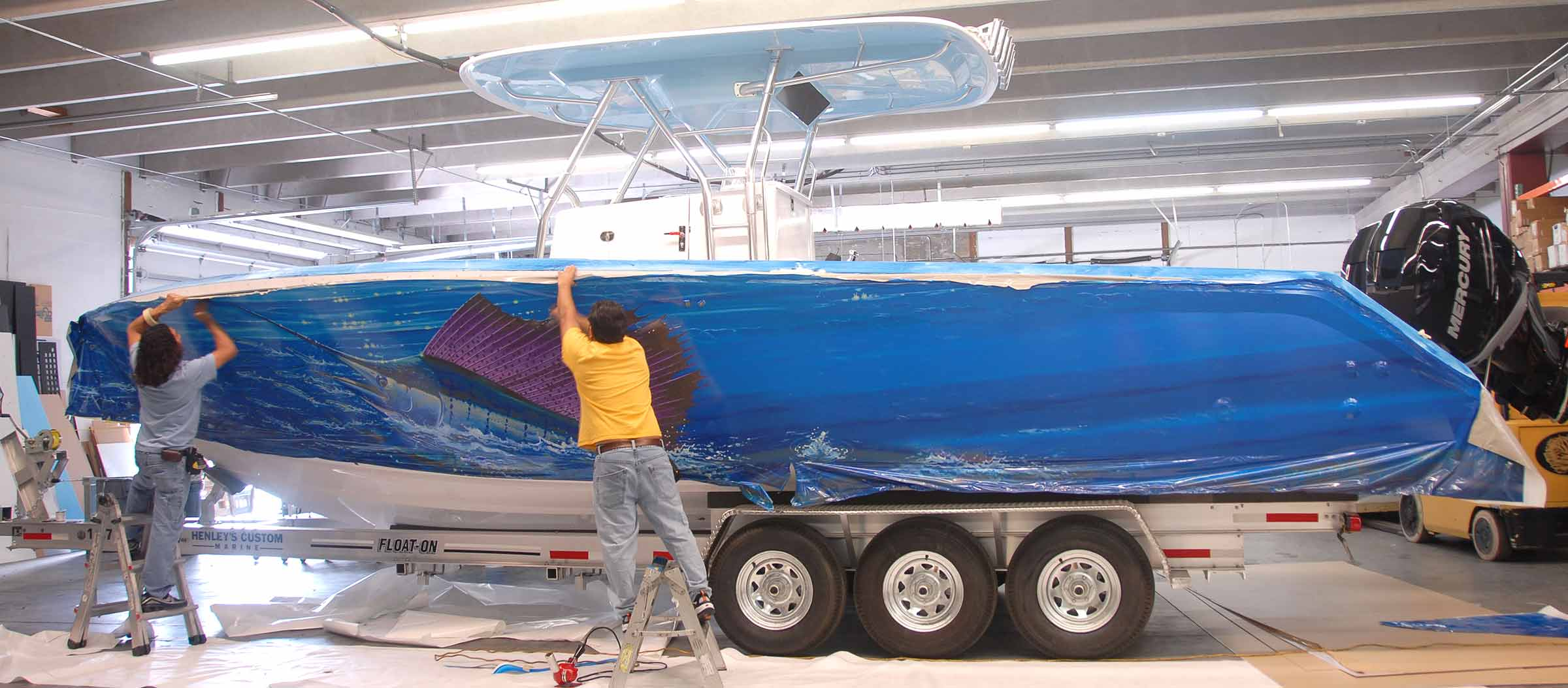 Boat Wrap Installation