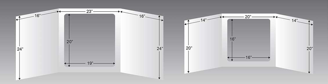 Desk Shield Dimensions